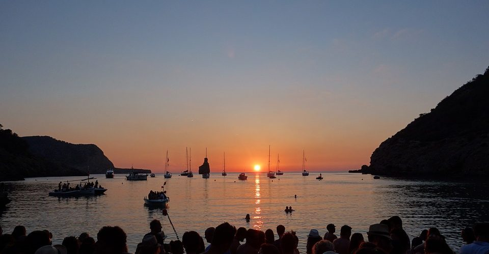 Puesta de sol en Sant Antoni, Ibiza