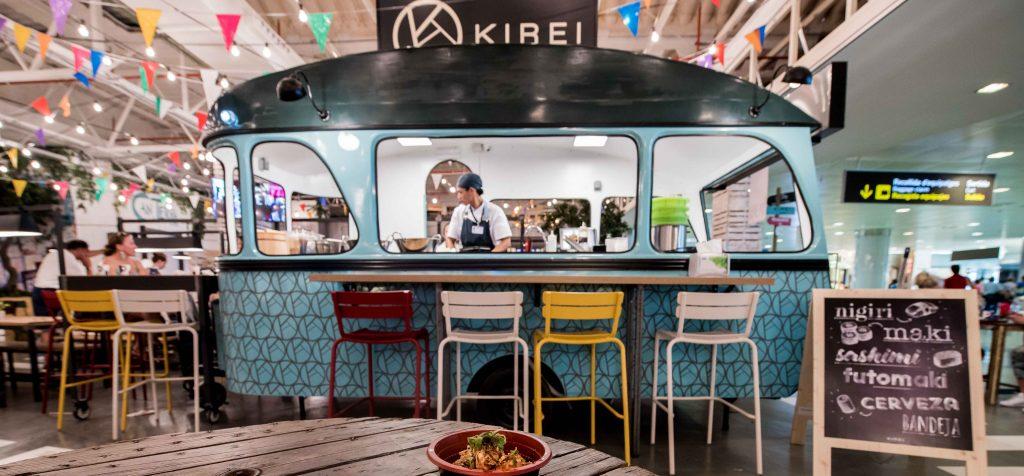Imagen del restaurante Kirei un japonés situado en el de Ibiza.